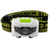 Wholesale Mini Modes Waterproof Lm CREE R3 LED Flashlight outdoors Headlight Headlamp head light lamp Torch Lanterna with Headband