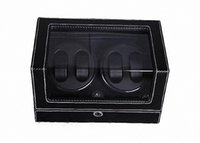 automatic packing - 2016 hot sale Brand new automatic watch winder for mechanical watch two colors singler packed solid wood with pu leather