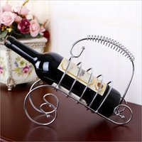 Wholesale NEW Home decoration ornaments creative home bar Continental Iron Arts grapes stainless steel wine rack TY605