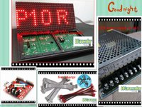 Wholesale DIY LED Text Display Electronic kits with P10 outdoor red LED module pc led controller pc power supply