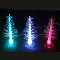 Cheap Hot! USB fiber christmaUSB Port Charming Romantic Changing Color Decoration Light LED Multi Color Christmas Tree Light Lamp with Sucker Gift