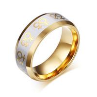 al por mayor acero inoxidable venus-La manera del anillo del acero inoxidable 316L del oro de señora de los anillos de Venus fábrica a la medida Outlets joyería libre