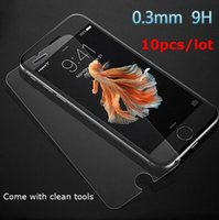 Wholesale 10pcs mm HD Screen Tempered Glass For iPhone plus s plus Screen Protector Sensitive Film H Explosion Proof