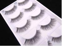 beam hair - 5 Pairs Set Natural Sparse Cross Eye Lashes Extension Makeup Long False Eyelashes Thick Soft Beam Eyelashes B4061