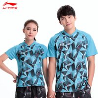 Wholesale Li Ning Men Quick Dry Table Tennis Polo Shirt Breathable Table Tennis Tops World Championships CHINA Game Shirts AAPL047 AAPL064