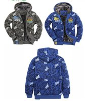 Wholesale retail male models plus thick velvet coat jacket children cartoon cute abstract jacket