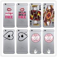 apple poker - Lover Cartoon Soft TPU Case Flower Poker Love Heart Letter Together FACE Lip PEAL FRIENDS For Iphone S Plus SE S skin Luxury