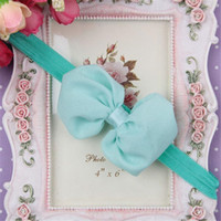 Wholesale Chiffon bowkont hairband according to the package to sell ten and Contains a of different colors