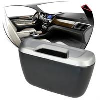 auto garbage cans - Universal Mini Auto Car vehicle Trash Rubbish Can Garbage Dust Case Holder Box Rubbish Bin Car Interior Accessories W045