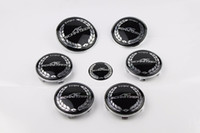 ac schnitzer bmw - 7pcs AC SCHNITZER Car Badge stickers Front Hood Emblem Rear Emblem Wheel Hub Cap steering wheel sticker