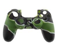 achat en gros de contrôleur ps4 couvercle du boîtier-HOT! PlayStation 4 Nouvelle Soft Silicone protection Housse Housse Etui pour PS4 Xbox One Controller