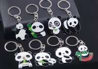 animations metal ring - Lovely panda keychains Metal ornament into oil printing custom cartoon key ring custom key chain animation creative gifts