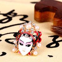 beijing rings - 2017 new fashion Beijing Opera Peking Opera blues girl beauty ring of tears