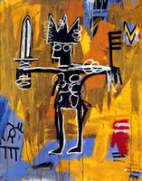 Wholesale Basquiat Michel Jean Julius Caesar Of Gold Genuine High Quality Pure Hand Painted Wall Decor Art Oil painting on canvas