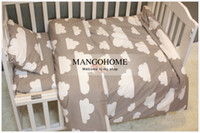baby crib sheet pattern - Cotton crib bedding set set with Quilt Cover Baby Bed Sheet Pillowcase Cute Cartoon Cat Bear Glasses Pattern for girl boy