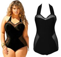 Wholesale 2016 New Plus Size Crochet Swimsuit Black Monokini Bandage Swimwear Bathing Suit styles One Piece Bodysuits For Women FS0089