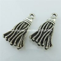 beauty drops pendants - 14678 Alloy Antique Silver Vintage Beauty Pendant Drop Ornament Hangings