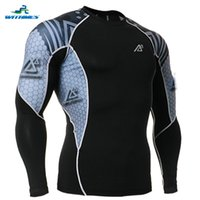 Wholesale C2L B41 Latest Elastic Long Sleeves Soccer Jersey Tight Clothes Compression Hunting Base Layers Men s Mountain Bike MTB T Shirt