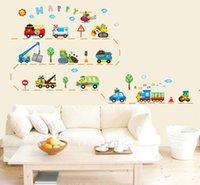 ambulance kids - Large Car Ambulance Truck Digg er Helicopter Crane Wall Stick er Decal Vinyl Home Kids Room