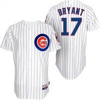Wholesale 17 Kris Bryant Cheap Wholesales Chicago Cubs Baseball Jersey white blue gray Embroidery Name and Logo EME DHL S3