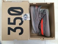 b keychain - DHL Freeshipping With Original Box Keychain Updated SPLY Boost Grey Bottom Kanye West Season Grey Orange Running Shoes Size