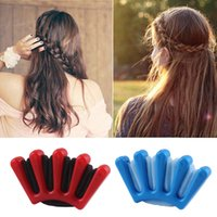 Wholesale 50 Pieces DIY hairstyle sponge plastics hair braider weave hair clips Modelling of hairdressing Tools
