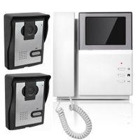 Wholesale 4 quot Color Video Door Phone Video Intercom Doorbell IR Night Vision Camera Monitor for Villa Home F4416B