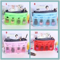 Wholesale SF EXPRESS colors women cosmetic bag Makeup Bag Purse MP3 Mp4 Phone Organizer lady fashion bag in bag Sundry Bags Zipper Tidy Bag