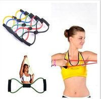 Wholesale Resistance Training Bands Rope Tube Workout Exercise For Yoga Type Fashion Body Fitness Factory for Women Men Keep Fit