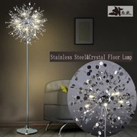 Wholesale Fashion modern crystal Floor lamp living room lights bedroom lamps French Modern stand Lights Stainless steel Abajur cristal