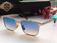 Wholesale DITA sunglasses dita ARISTOCRAT men brand designer sunglasses retro vintage semi rimless sunglass metal frame coating lens original case