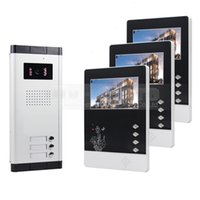 apartment door phone - 4 inch Video Door Phone Wired Apartment Audio Visual Intercom Entry System IR Camera for Families