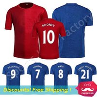 Wholesale Pogba red adult Soccer Jersey blue MEMPHIS IBRAHIMOVIC Football shirts maillot de foot camiseta de futbol Utd Wayne Rooney