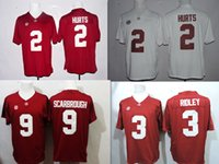 alabama champions - Jalen Hurts Jerseys Ridley Bo Scarbrough Alabama Crimson Tide Natl Champions Football Limited Jerseys Color Red White