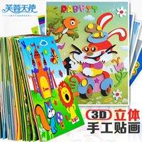 Wholesale EVA baby young children Handmade STICKER SET TOYS stickers stickers D stereo DIY puzzle kindergarten