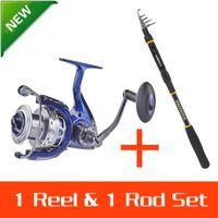 Wholesale KastKing Meter Carbon Telescopic KKBH Fishing Rod Pole With Triton Dualis BBs CNC Aluminum Spool Fishing Reel Rod combo
