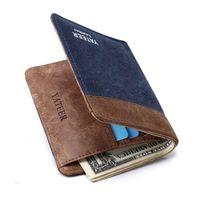 Wholesale 2016 New Arrival Wallet Purses Men Canvas Short Designer Wallets Card Holder Photo Holder Wallet Colors Available WS001