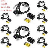 Wholesale Vander LM LED Headlight XM L T6 Head Lamp Light Battery Charger