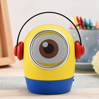 Wholesale Halloween gifts creative yellow people Minions portable bluetooth speaker phone usb computer TF card subwoofer bluetooth stereo
