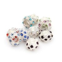 Wholesale 10pcs New Arrival Fashion Crystal Silver Plated Spacer Charms Wheel Beads Fit DIY European Bracelet F2446