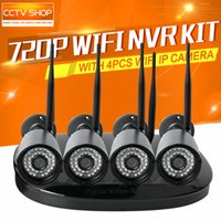 Wholesale 4Pcs MP Wireless IP Camera WiFi System NightVision Outdoor Waterproof Security Surveillance System P2P iPhone Android View
