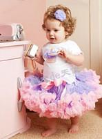Wholesale 2016 Tutu Dance skirt Girls Dobby Dress school girl birthday dress ball dresses bubble skirt ETQ16