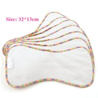 Wholesale Bamboo Cotton and Suede Diaper Cloth Insert Reusable Washable Layers Nappy Liner Two sides different material Cloth Nappy