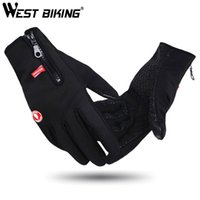 Wholesale Winter Gloves Thermal Windproof Warm Outdoor Sport Profession Luvas Guante Bicycle Motorcycle Auto Racing Black Gloves For Men