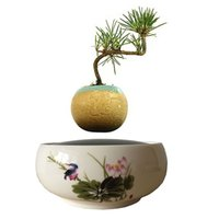 Cheap 2016 Japan High-tech Magnetic Levitation Floating bonsai Ceramic Flower Pot Plant Pots Bonsai Tree Christmas Gifts for Women (No Plant) F-4