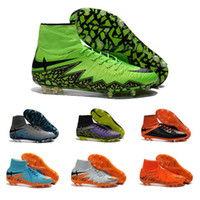 beige green color - Drop Shipping Football Shoes Men Hypervenom II Phantom FG Soccer Boots Authentic Color Outdoor Sports Shoes Size