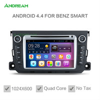 Wholesale 1024 Quad Core Car DVD Player Radio Stereo Android For Mercedes Benz Smart Free EU shipping NO TAX Bluetooth GPS Navigation EW828PQH