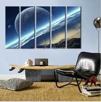 banks life - Shipping E HOME Oil Painting A Bank of Clouds Decoration Painting Set of Home Decor On Canvas Modern Wall Prints