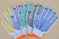 Wholesale Cheap Factory Price High Quality Safety Cotton Gloves Protective Work Glue Gloves Customized MOQ pairs