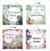 Wholesale 4 Design Secret Garden Beauty and the Beast Coloring Book DHL Relieve Stress Kill Time Graffiti Painting Magic forest Drawing Book B001